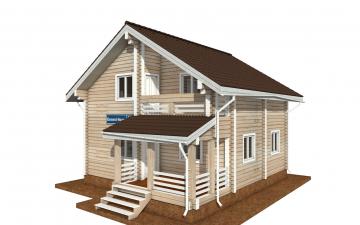 Фото #4: деревянный дом ПДБ-68 из клееного бруса купить за 10596603 (цена «Под ключ»)