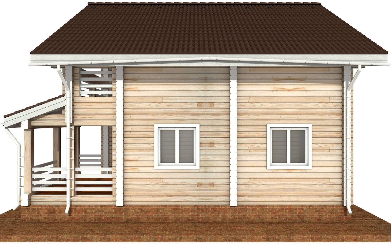 Фото #10: деревянный дом ПДБ-68 из клееного бруса купить за 10596603 (цена «Под ключ»)