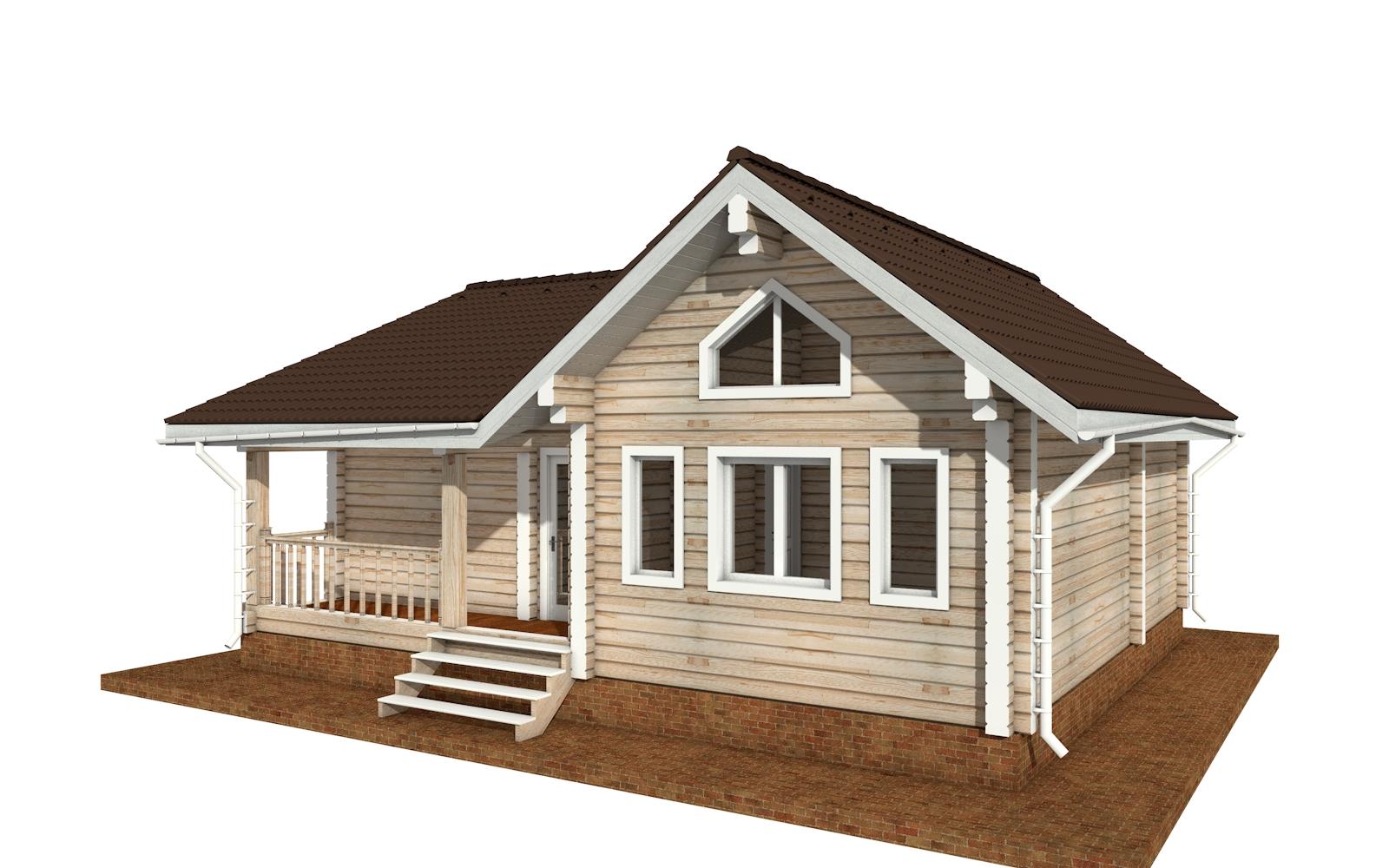 Фото #4: деревянный дом ПДБ-69 из клееного бруса купить за 8728012 (цена «Под ключ»)