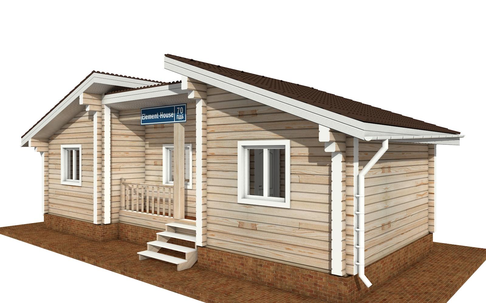 Фото #4: деревянный дом ПДБ-70 из клееного бруса купить за 5880759 (цена «Под ключ»)