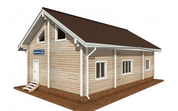Фото #4: деревянный дом ПДБ-71 из клееного бруса купить за 10054092 (цена «Под ключ»)