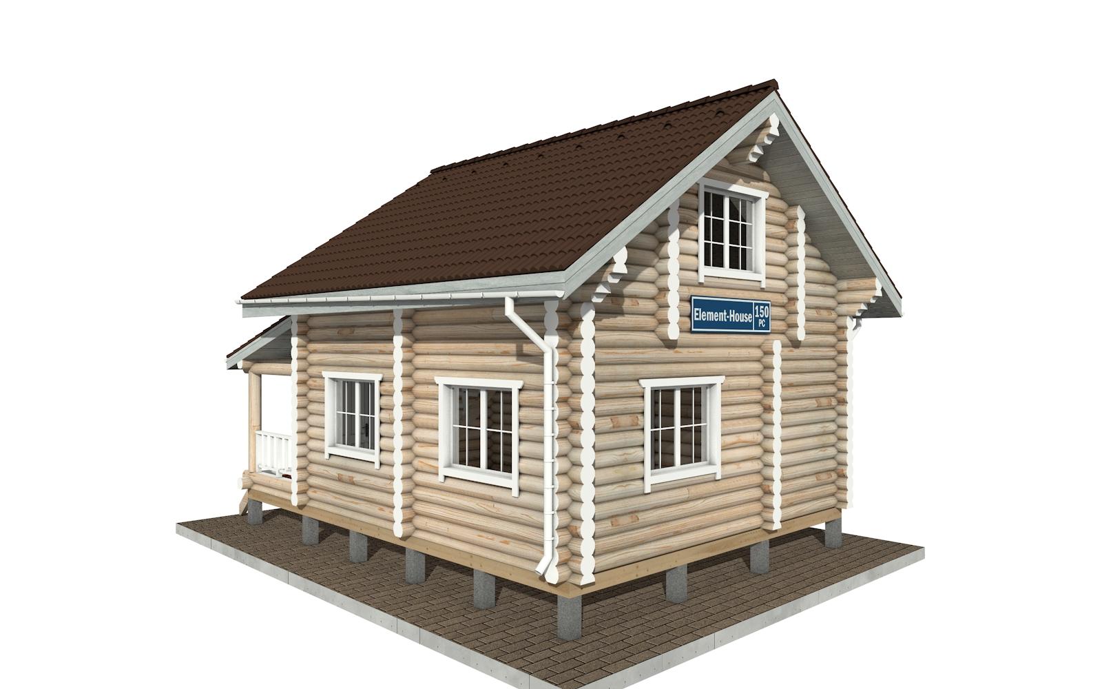 Фото #4: Красивый деревянный дом РС-150 из бревна