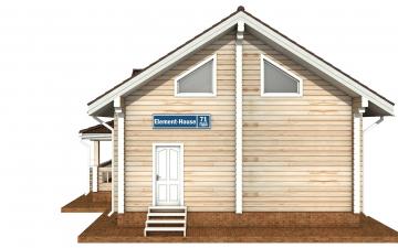 Фото #10: деревянный дом ПДБ-71 из клееного бруса купить за 10054092 (цена «Под ключ»)