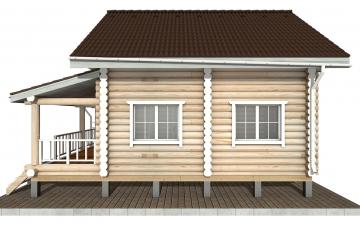 Фото #10: Красивый деревянный дом РС-150 из бревна
