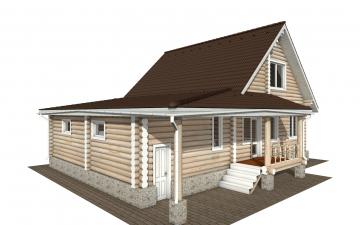 Фото #4: Красивый деревянный дом РС-151 из бревна