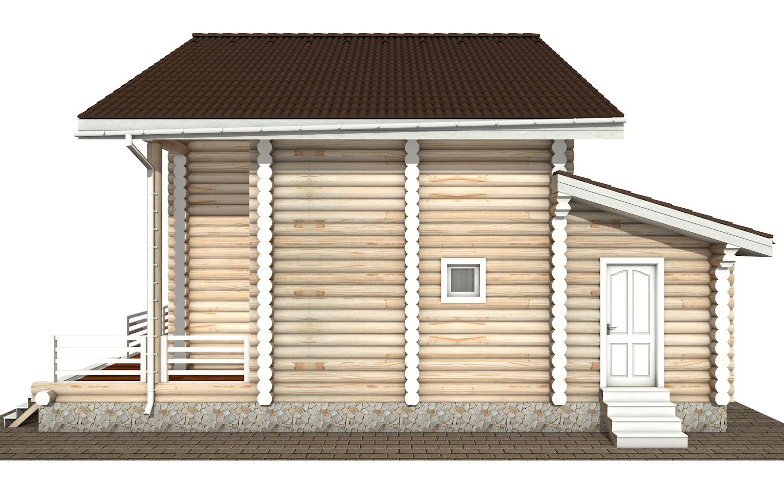 Фото #9: Красивый деревянный дом РС-146 из бревна