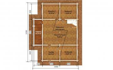 Фото #5: деревянный дом ПДБ-71 из клееного бруса купить за 10054092 (цена «Под ключ»)