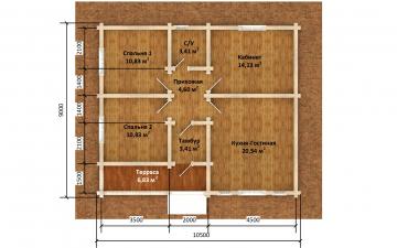 Фото #5: деревянный дом ПДБ-69 из клееного бруса купить за 8728012 (цена «Под ключ»)