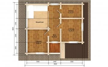 Фото #6: Красивый деревянный дом РС-176 из бревна