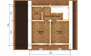 Фото #6: деревянный дом ПДБ-64 из клееного бруса купить за 7080194 (цена «Под ключ»)