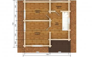 Фото #6: деревянный дом ПДБ-66 из клееного бруса купить за 8077921 (цена «Под ключ»)