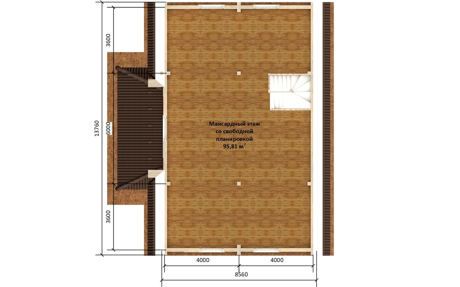Фото #6: деревянный дом ПДБ-71 из клееного бруса купить за 10054092 (цена «Под ключ»)