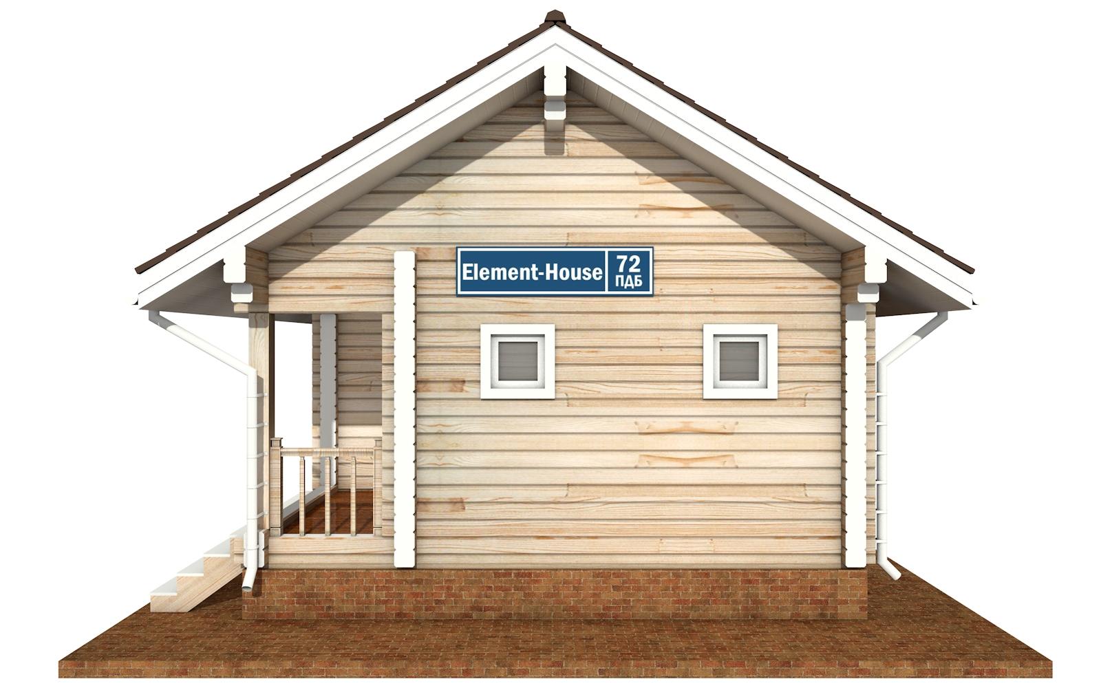 Фото #6: деревянный дом ПДБ-72 из клееного бруса купить за 6031949 (цена «Под ключ»)