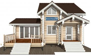 Фото #7: Красивый деревянный дом РС-180 из бревна