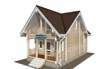 Фото #1: Красивый деревянный дом РС-181 из бревна