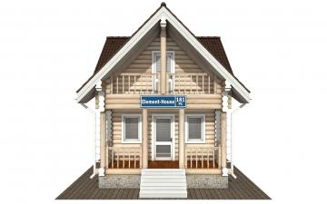 Фото #7: Красивый деревянный дом РС-181 из бревна