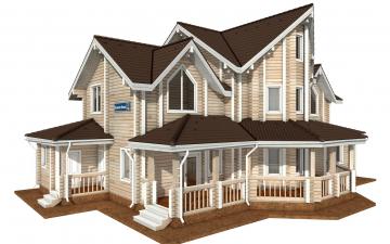 Фото #1: деревянный дом ПДБ-73 из клееного бруса купить за 30945613 (цена «Под ключ»)