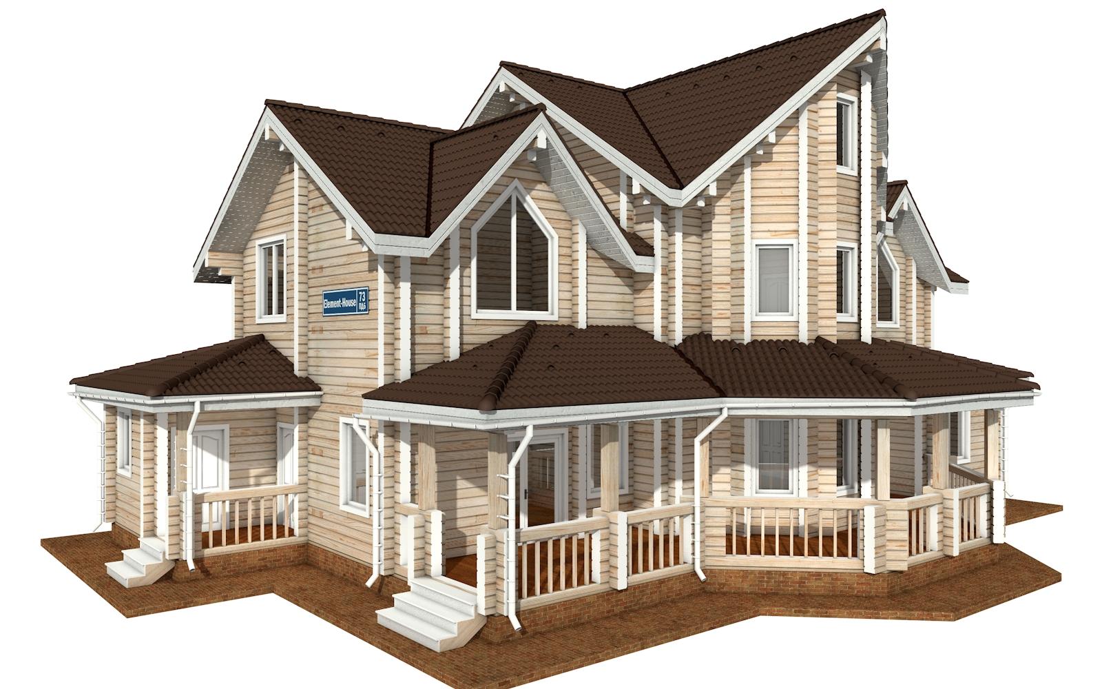 ПДБ-73 - деревянный дом из клееного бруса
