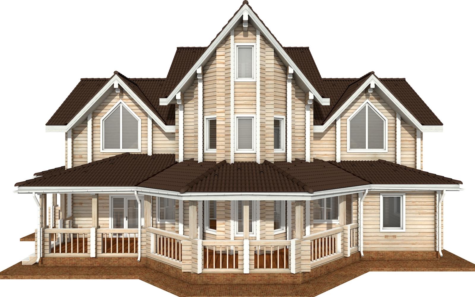 Фото #7: деревянный дом ПДБ-73 из клееного бруса купить за 30945613 (цена «Под ключ»)