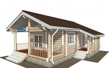 Фото #1: Красивый деревянный дом РС-182 из бревна