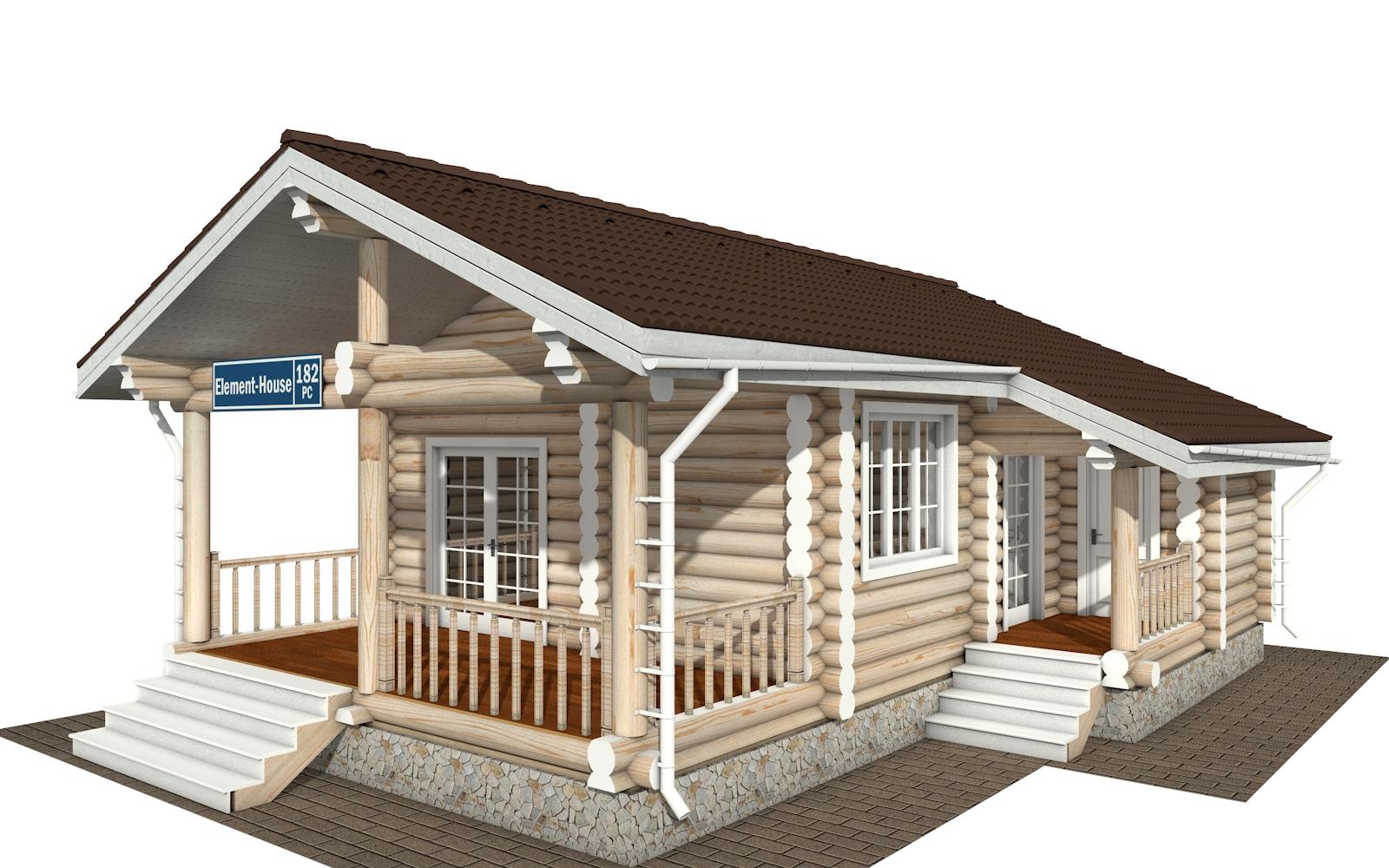РС-182 - деревянный дома из бревна (из сруба)