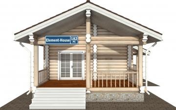 Фото #7: Красивый деревянный дом РС-182 из бревна