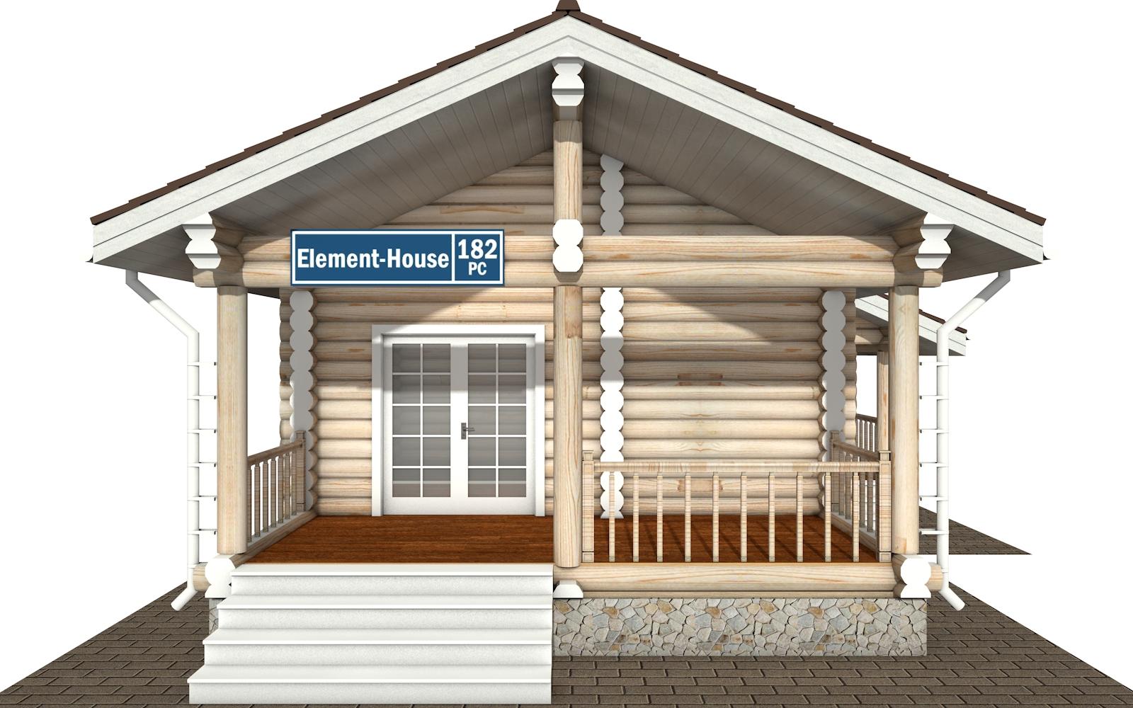Фото #6: Красивый деревянный дом РС-182 из бревна