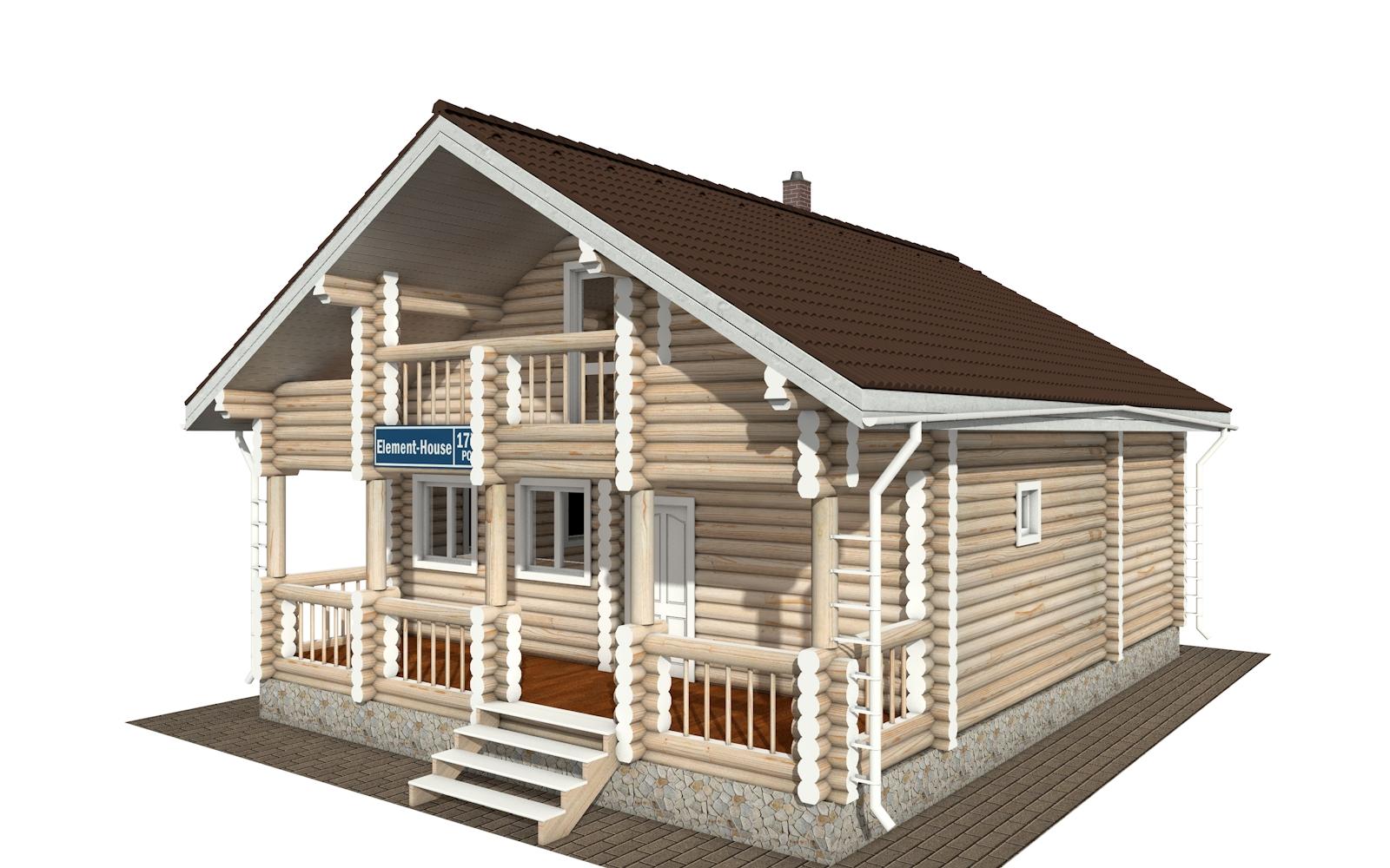 Фото #1: Красивый деревянный дом РС-177 из бревна