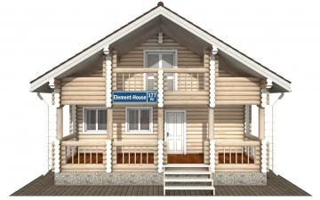 Фото #7: Красивый деревянный дом РС-177 из бревна