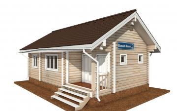 Фото #1: деревянный дом ПДБ-72 из клееного бруса купить за 6031949 (цена «Под ключ»)