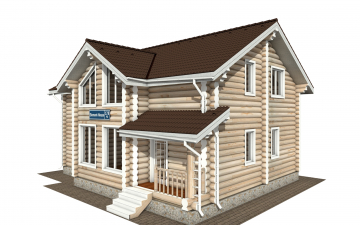 Фото #1: Красивый деревянный дом РС-178 из бревна