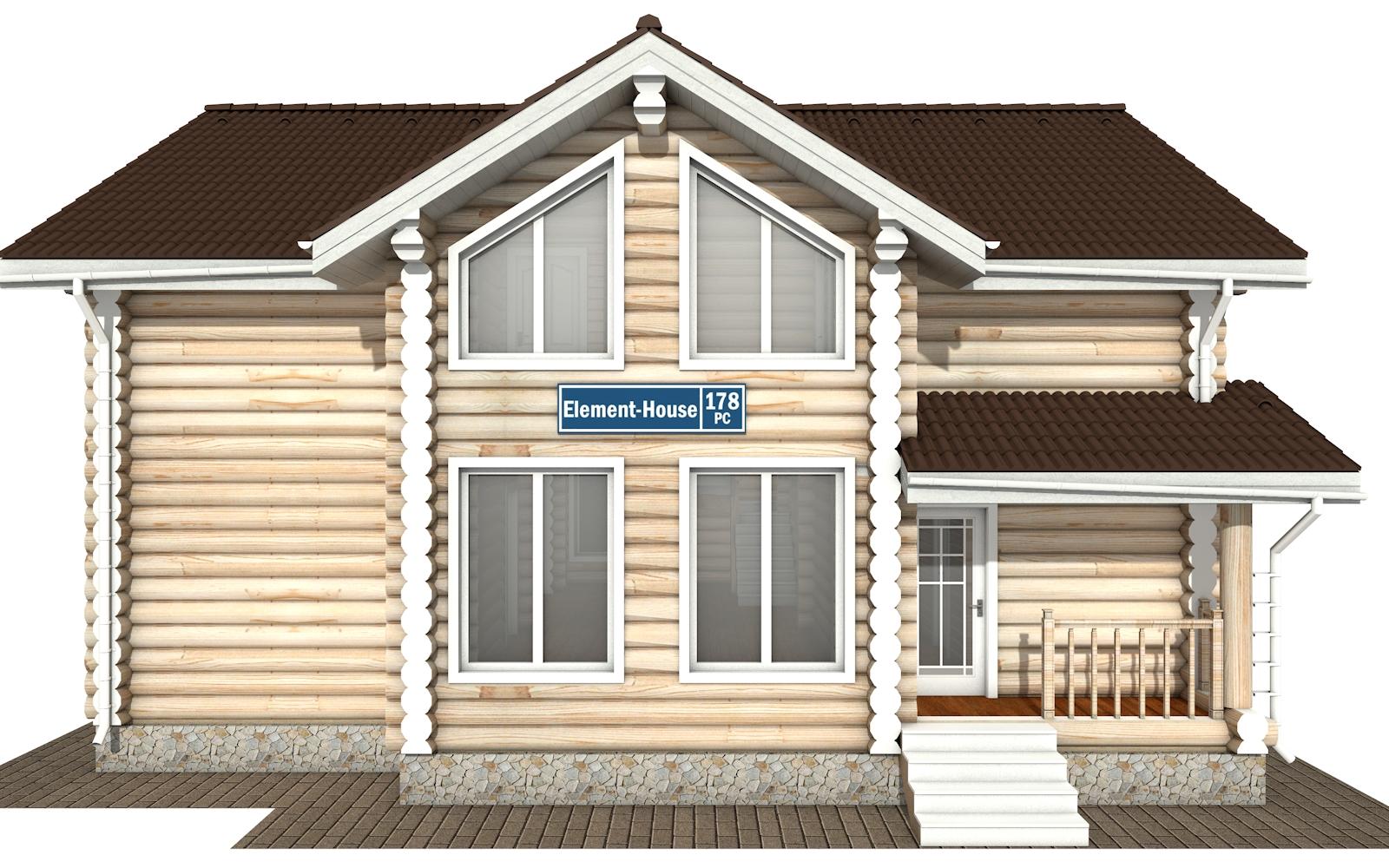 Фото #7: Красивый деревянный дом РС-178 из бревна