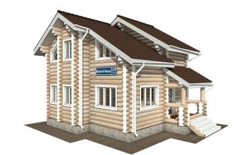 Фото #1: Красивый деревянный дом РС-179 из бревна