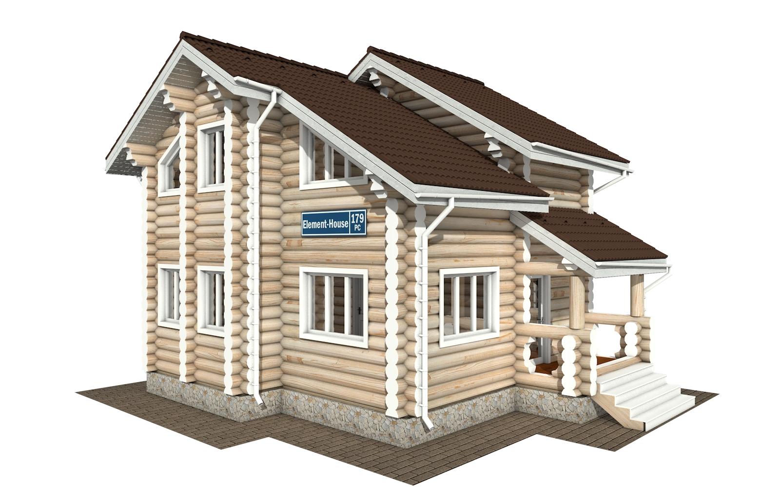 РС-179 - деревянный дома из бревна (из сруба)
