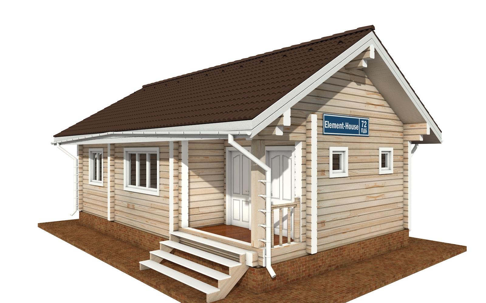 ПДБ-72 - деревянный дом из клееного бруса
