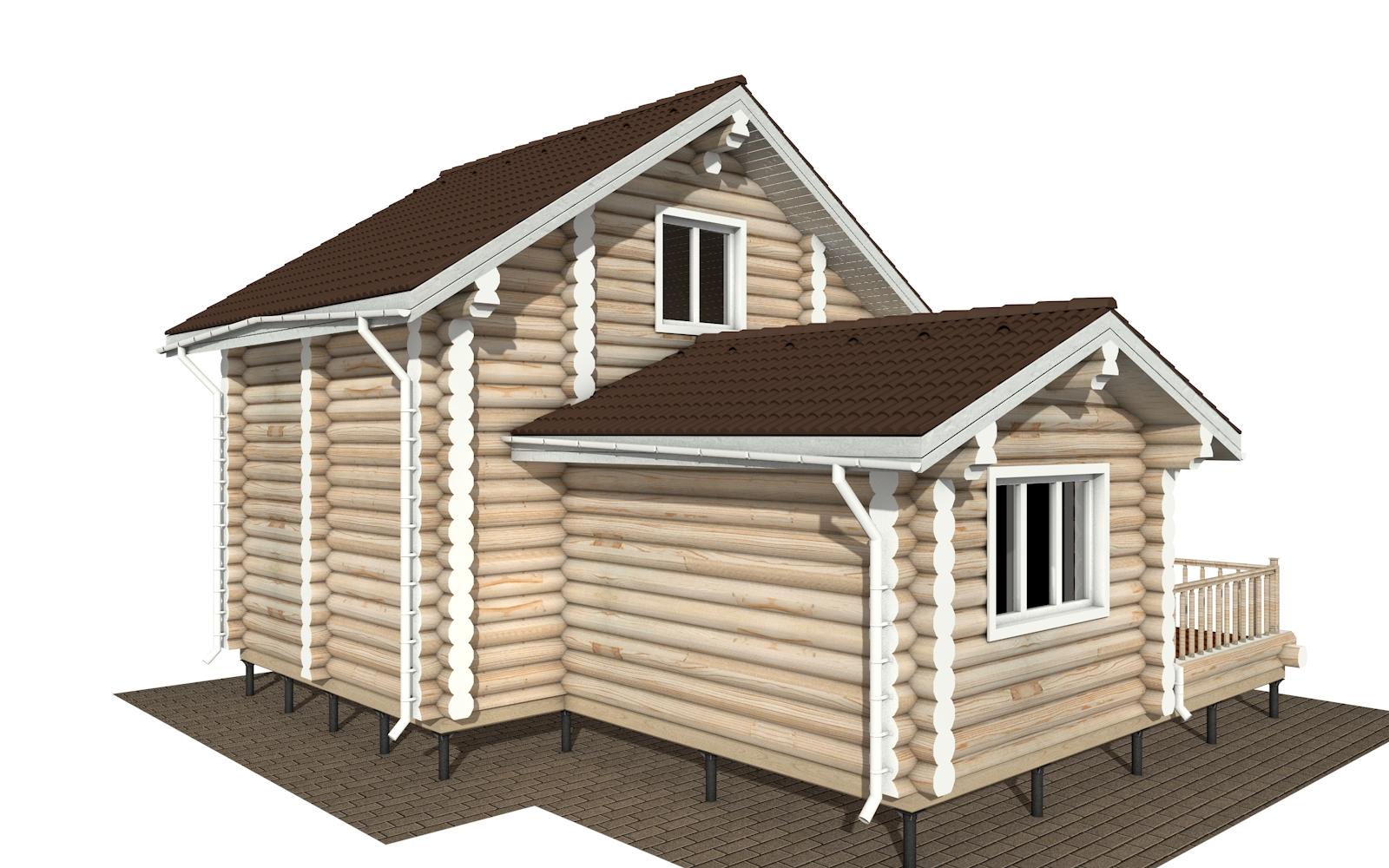 Фото #5: Красивый деревянный дом РС-180 из бревна