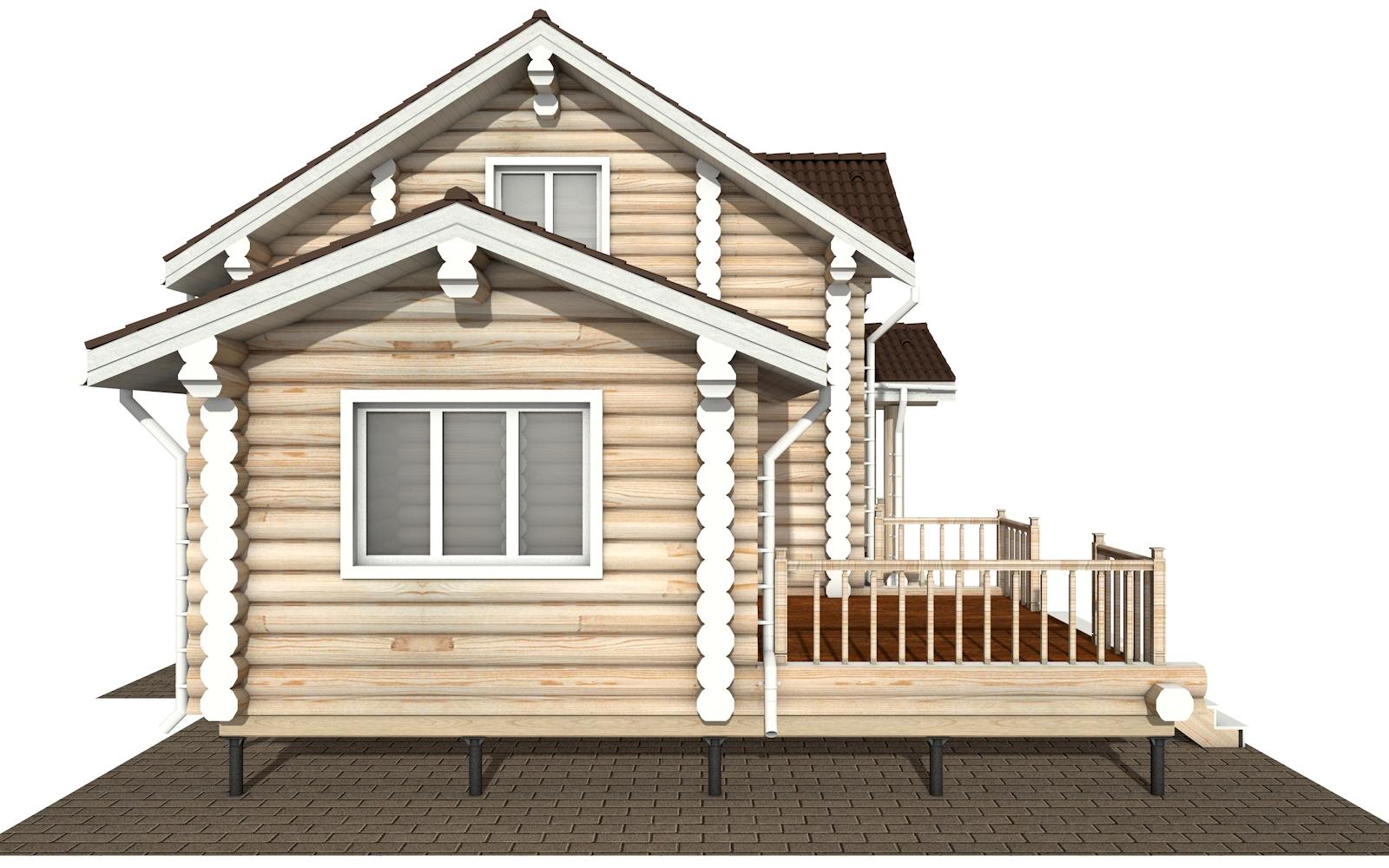 Фото #8: Красивый деревянный дом РС-180 из бревна