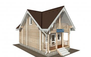 Фото #5: Красивый деревянный дом РС-181 из бревна