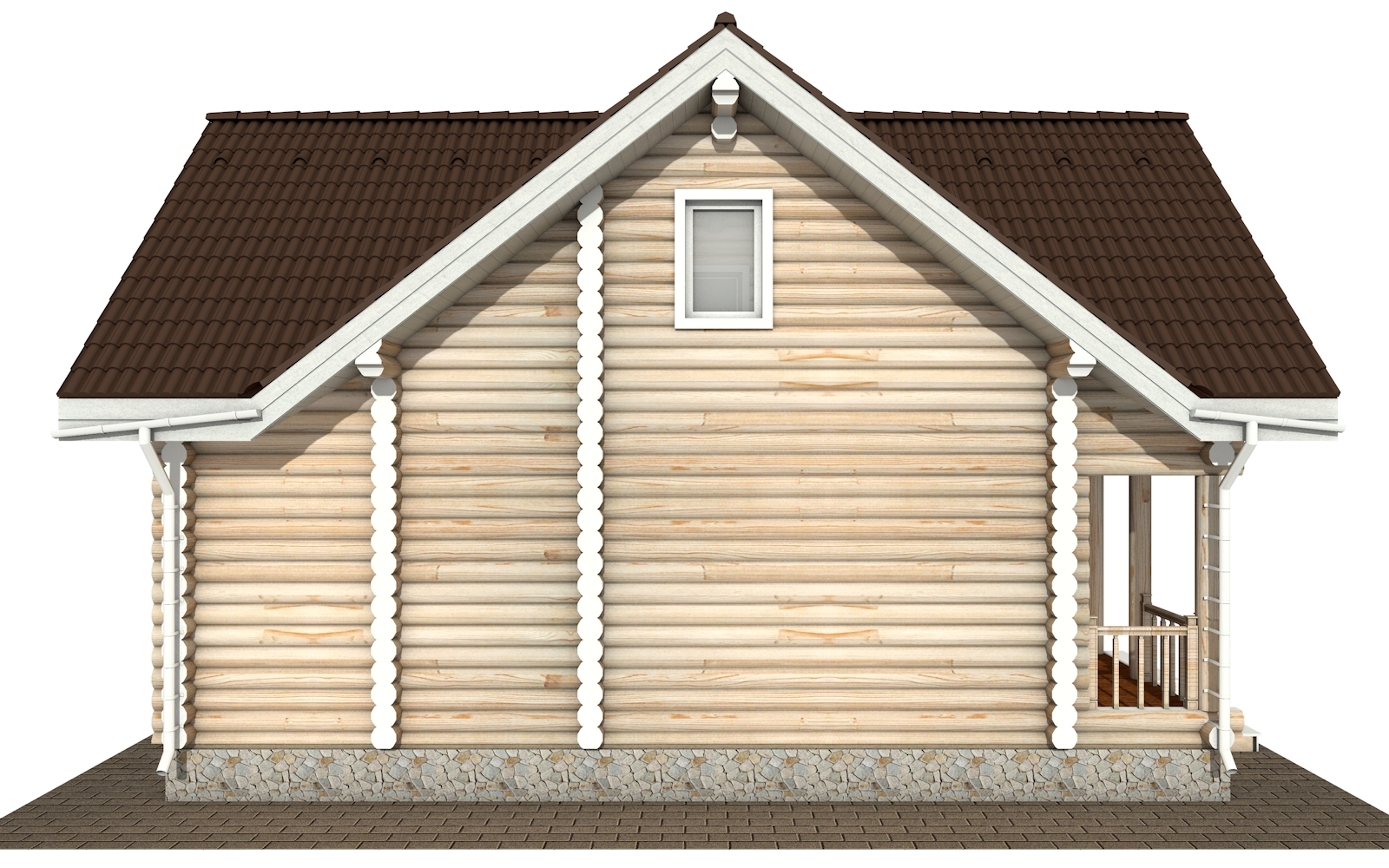 Фото #8: Красивый деревянный дом РС-181 из бревна