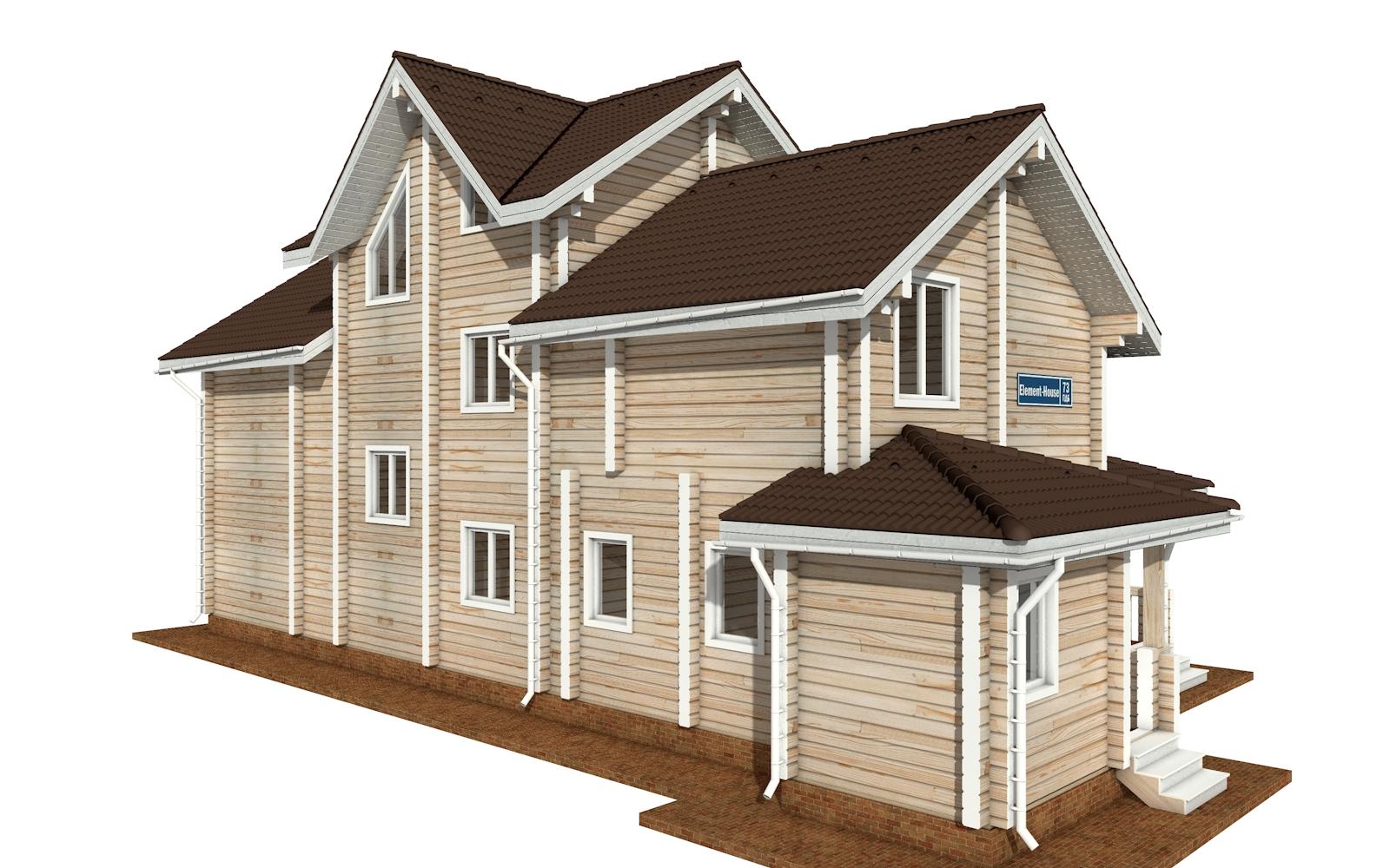 Фото #5: деревянный дом ПДБ-73 из клееного бруса купить за 30945613 (цена «Под ключ»)