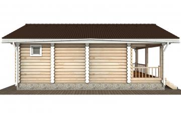 Фото #8: Красивый деревянный дом РС-182 из бревна