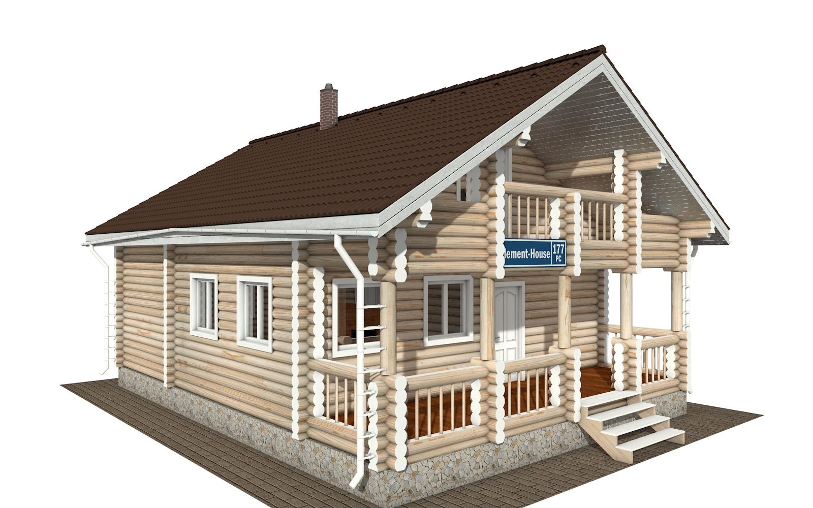Фото #2: Красивый деревянный дом РС-177 из бревна
