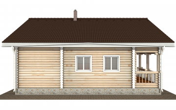 Фото #8: Красивый деревянный дом РС-177 из бревна