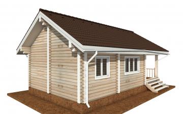 Фото #2: деревянный дом ПДБ-72 из клееного бруса купить за 6031949 (цена «Под ключ»)
