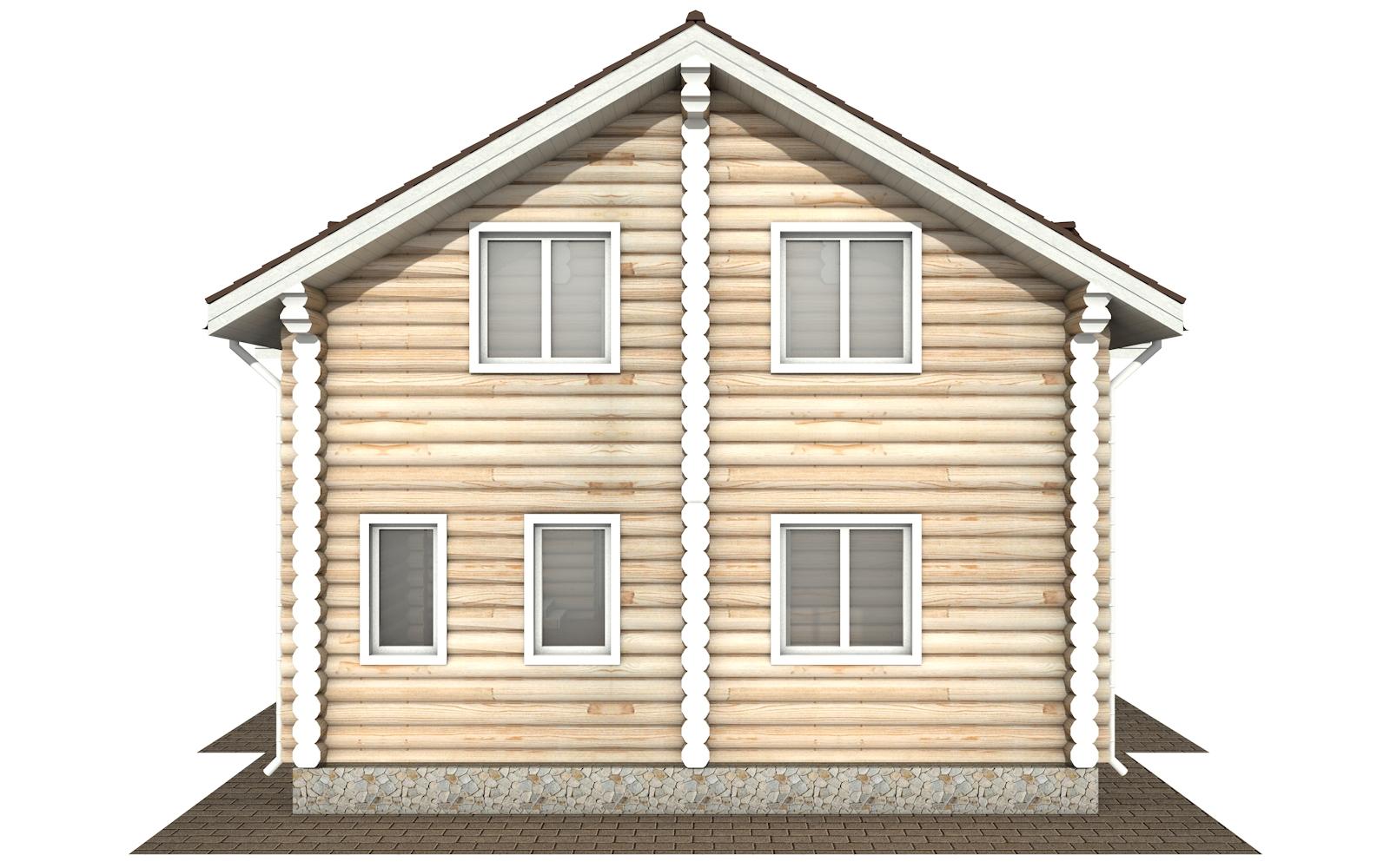 Фото #8: Красивый деревянный дом РС-178 из бревна