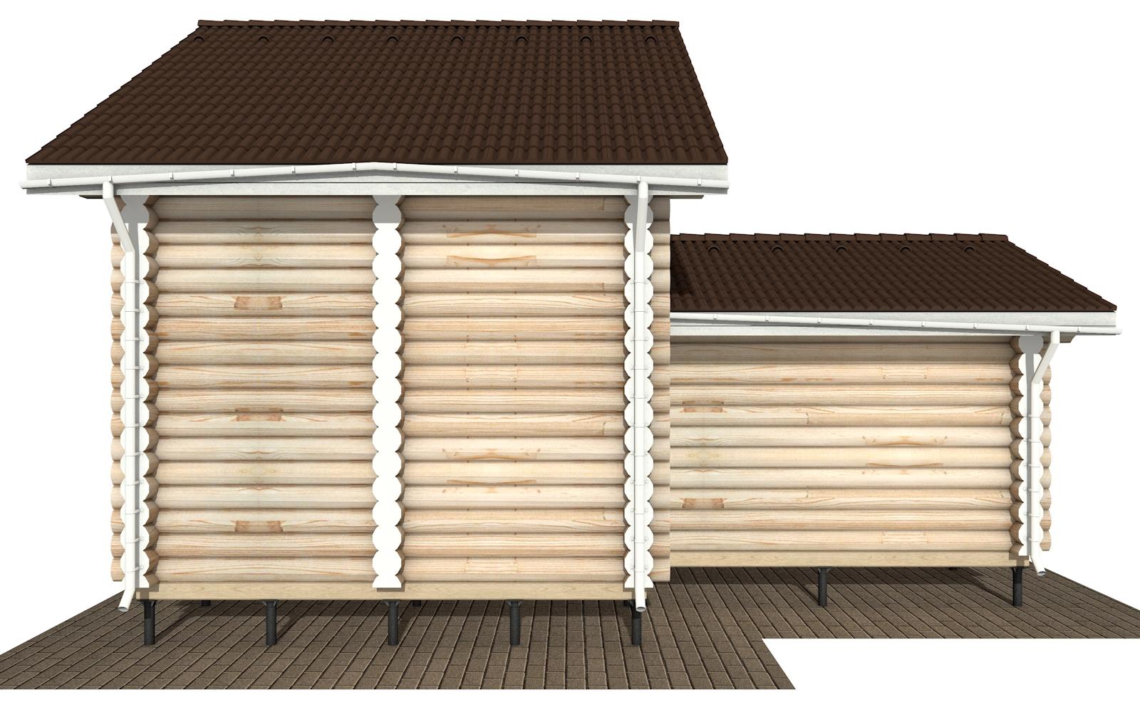 Фото #9: Красивый деревянный дом РС-180 из бревна