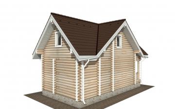 Фото #6: Красивый деревянный дом РС-181 из бревна