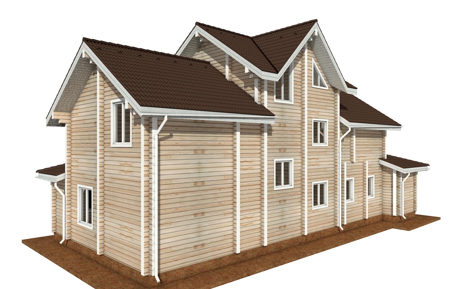 Фото #6: деревянный дом ПДБ-73 из клееного бруса купить за 30945613 (цена «Под ключ»)