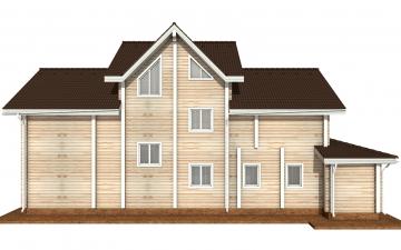 Фото #9: деревянный дом ПДБ-73 из клееного бруса купить за 30945613 (цена «Под ключ»)