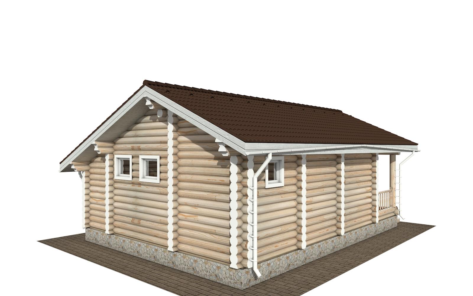 Фото #5: Красивый деревянный дом РС-182 из бревна